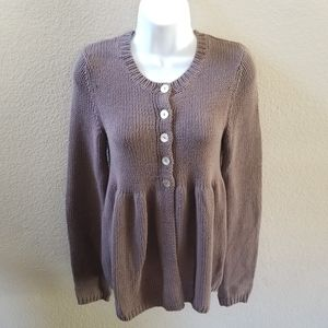 Free People Peplum Baby Doll Cardigan Size Small